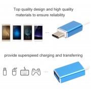 EB Micro USB Tipo C Al Adaptador Del USB Cable De Carga De La Sinc. Del Cargador De Los Datos De OTG 4 Colores-Azul