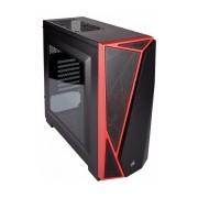 Gabinete Corsair Carbide Spec-04 con Ventana, Midi-Tower, ATX/Micro-ATX/Mini-ITX, USB 2.0/3.0, sin Fuente, Negro/Rojo