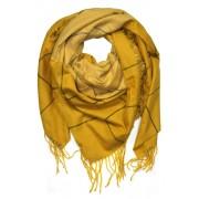 Glory Must velký šátek - zimní pléd tmavě žlutá