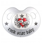 dudlík ROCK STAR BABY - Heart & Wings - 90221