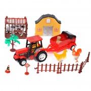 Tractor cu remorca Farm Set, animale incluse