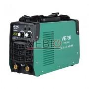 Aparat de sudura Verk VWI-200V, Electrod 1.0 - 5.0 mm, 10 Kg, Accesorii incluse, Verde