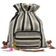 The House of Tara Handloom Fabric Slim 10 L Backpack(Grey)
