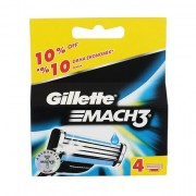 Gillette Mach3 náhradní břit 4 ks pro muže