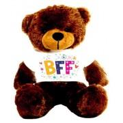 Brown 2 feet Big Teddy Bear wearing a BFF T-shirt