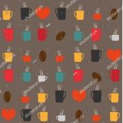Tapet superlavabil pentru bucatarie cu design cafea, la comanda (Dimensiune ( L x H): 300 x 200 cm, Selecteaza imaginea dorita!: Ftcom-Sh-305632058 maro, rosu, portocaliu, colorat)