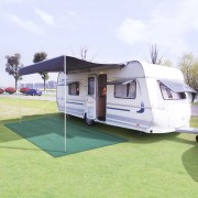 vidaXL Килим за палатка, 250x500 см, зелен
