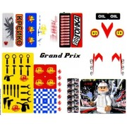 "Lego Original Sticker Sheet for Speed Racer Set #8161 ""Grand Prix Race"" Sheet 1 of 2"