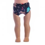 ELECTROPRIME Black Christmas Underwear for 43cm Zapf Baby Born Dolls Clothes Accessories