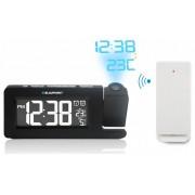 Ébresztőórás rádió bel- és kültéri hőmérő funkcióval, idő- és hőmérsékletkivetítéssel, CRP10BK