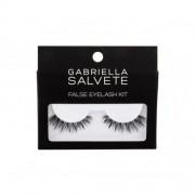 Gabriella Salvete False Eyelashes подаръчен комплект изкуствени мигли 1 чифт + лепило за мигли 1 g за жени Black