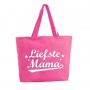 Bellatio Decorations Liefste Mama shopper tas fuchsia roze 47 cm