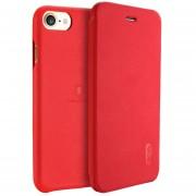 Lenuo Para IPhone 8 Y 7 PU + PC Litchi Texture Horizontal Funda De Cuero Flip Con Ranuras De Tarjeta (rojo)