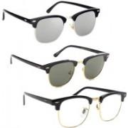 Phenomenal Clubmaster Sunglasses(Clear, Green, Silver)