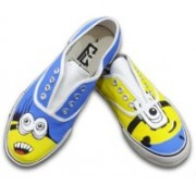 F-Gali The Minion Low Top Canvas Shoes Canvas Shoes For Women(Multicolor)