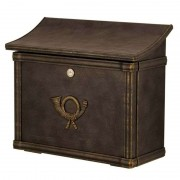 High-quality letterbox MERITO brown/gold patinated
