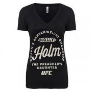 UFC kvinnors Holly Holm Bantamvikt mästare T-Shirt-svart L
