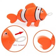Boddenly Fish Bath Toys Baby Kids Multi-type Wind Up Bathing Shower Wash Play Cartoon Pull Toy