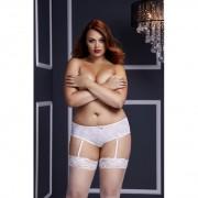 Baci - White Rose Open Crotch Boyshort Panty - XL