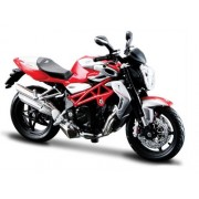 Maisto MV Brutale Agusta 1090 RR Motorcycle Toy (Red, Silver)