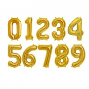 Baloane folie cifra aurii,100cm