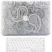 Rosette MacBook Air 1Case Cover Keyboard Cover Skin for Apple Mac Air 13.3 fits Model A1369 / A1466 (Paisley Pattern)