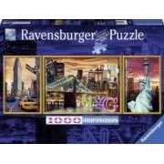 Puzzle NEW YORKUL IRIZANT 1000 piese Ravensburger