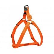 """ZOLUX Pettorina Regolabile """"Mac Leather"""" 10mm - Arancione"""