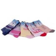 Herbert pamut gyerek zokni - lányos minták - 5 pár