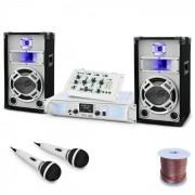 Electronic-Star Set DJ PA 'Wedding Fox' Mesa mezclas Amplificador Altavoces (PL4821-4832)