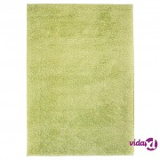 vidaXL Čupavi ukrasni tepih 80 x 150 cm zeleni