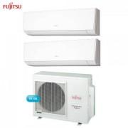 Fujitsu Climatizzatore Condizionatore Fujitsu Dual Split Parete Inverter Serie Lm 9000+9000 Btu Con Aoyg18l