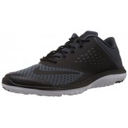 Nike FS Lite Trainer II Men Round Toe Synthetic Black Running Shoe Grey / Black / White 14 D(M) US