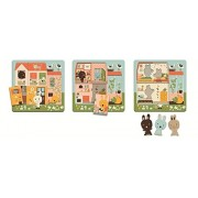 Djeco 3 Layer Lift-Out Wooden Puzzle - Rabbit Cottage