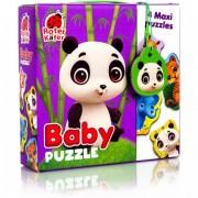 Puzzle Maxi Bebelusi Roter Kafer, 13 piese, Animale de la Zoo, Multicolor