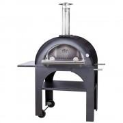 Pulcinella 100 Vedeldad Ugn/Pizzaugn (Lucka: Rostfritt stål (ingår), Takfärg: Hela ugnen i rostfritt stål)