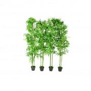 vidaXL Комплект от 4 броя изкуствени декоративни бамбукови дръвчета, 190 см.