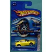 Mattel Hot Wheels 2005 First Editions 1:64 Scale Yellow Aston Martin V8 Vantage Die Cast Car #011