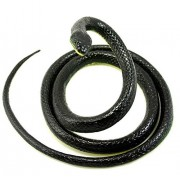 Realistic Lifelike Rubber Black Dark Green Mamba Rain Forest Snake Toy 52 Inch Long Snakes Scary Gag Incredible Creatures Chain Snakes by Yansanido