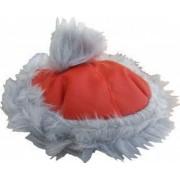 Caciulita de iarna cu blana NOEL Euroanimode marimea S 23-25 cm rosu/alb