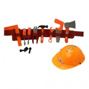 Play Tool Belt With Tools And Construction Helmet : set