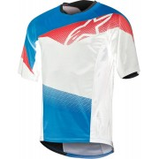 Alpinestars Mesa Bicycle Jersey White Red Blue S