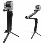 Soporte del palillo del selfie del tripode del apreton de la camara del deporte de 3 maneras para el gopro antz sony