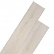 vidaXL Самозалепващи подови дъски от PVC 5,02 м² 2 мм цвят бял дъб