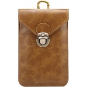 Let op type!! 5.7 Inch Universal Fashionable Vertical Crazy Horse Texture Three Layers Multi-function Leather Case / Waist Bag for iPhone 6 Plus & 6S Plus Galaxy S7 Edge / G935 & S6 Edge+ / G928 & Note 5 / N920 & A8 / A800 & Note IV / N910(Khaki)
