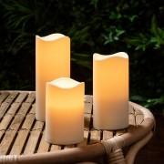 3 Bougies LED d'Extérieur à Piles avec Programmateur