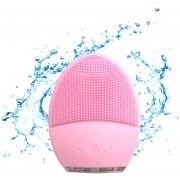 Cepillo Facial Limpiador Exfoliante Silicon Electrico Recargable -Rosa