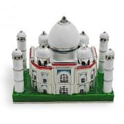"Objet D'Art Release #216 ""The Taj Mahal"" World Heritage Site India Temple Handmade Jeweled Metal & Enamel Trinket Box"