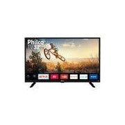 Smart TV LED 32 Philco PTV32G50SN HD com Conversor Digital 2 HDMI 1 USB Wi-Fi Áudio Dolby Preta
