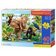 Castorland Junior Jungle Premium Maxi Jigsaw (40-Piece)